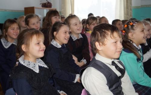 Вовремя открытого урока вп.Жигалово. Фото Оксаны Ермаковой