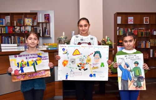 В ЗАО«Газпром Армения» выбрали победителей конкурса детских рисунков «Безопасный труд»
