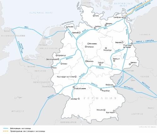 Развитие ПХГ вЕвропе повышает надежность поставок газа потребителям взимний период