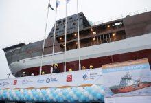 Спущен на воду первый ледокол «Газпром нефти» для сопровождения танкеров Новопортовского месторождения
